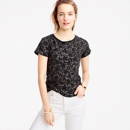 Metallic stars T-shirt
