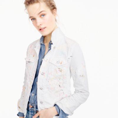 Limited-edition denim jacket in paint splatter