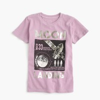 Boys' glow-in-the-dark garment dyed moon mission T-shirt
