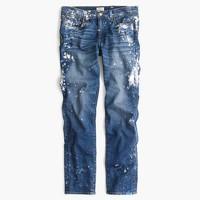 Limited-edition slim boyfriend jean in paint splatter