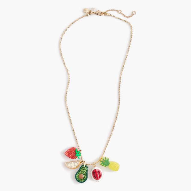 Girls' fruity charm necklace