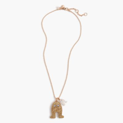 Girls' critter charm necklace