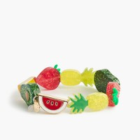 Girls' elastic fruit bracelet