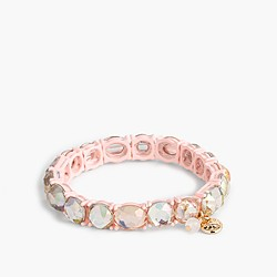 Girls' elastic sparkly gem bracelet