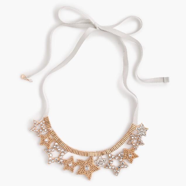 Girls' sparkle gem star necklace