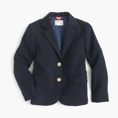 Girls' two-button schoolboy blazer