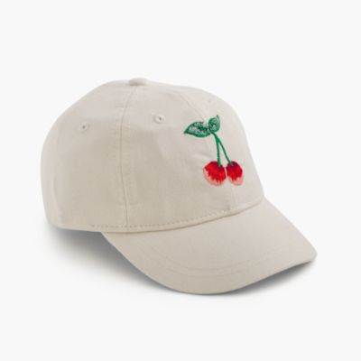 Kids' critter baseball cap in cherry