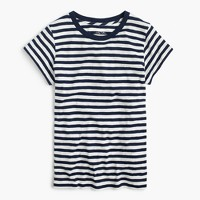 Vintage cotton crewneck T-shirt in stripe
