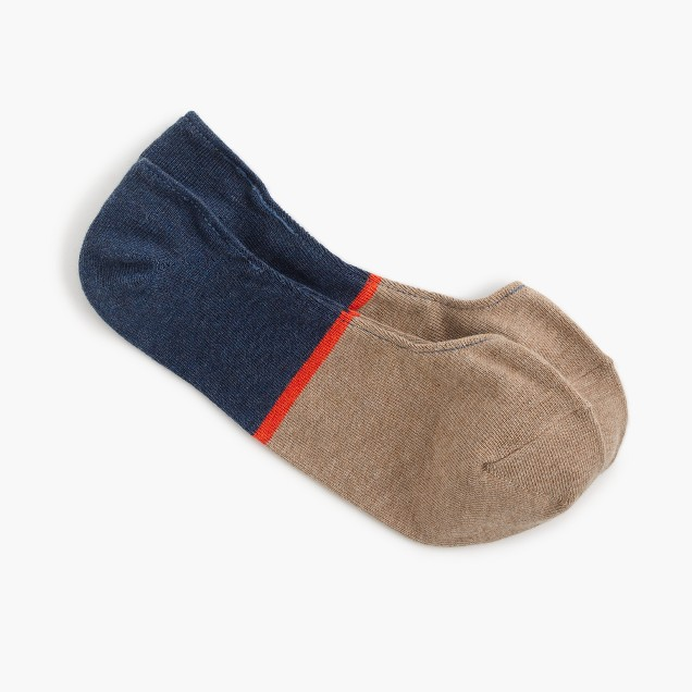 No-show socks in colorblock