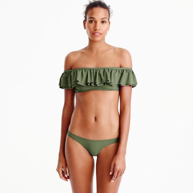 Ruffle off-the-shoulder bikini top
