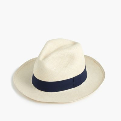 Panama hat with navy band