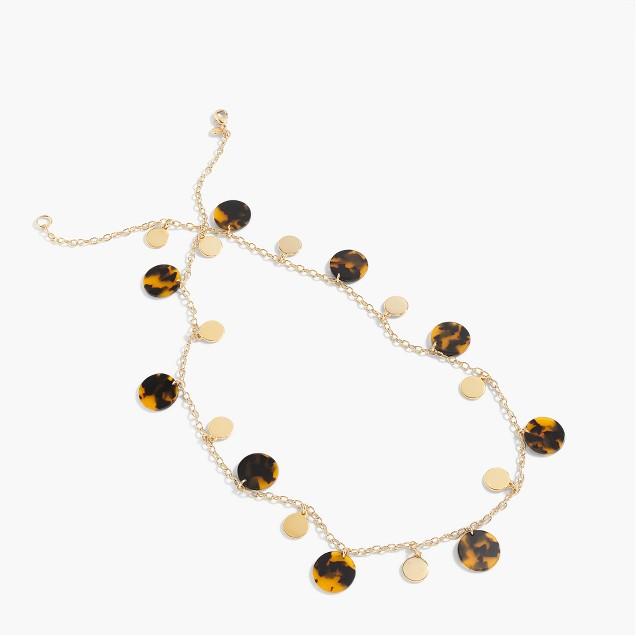 Tortoise disc necklace