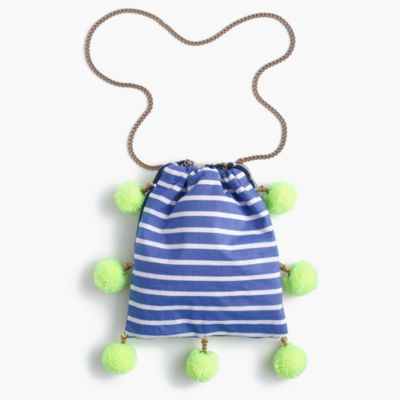Gaia™ for J.Crew pom-pom bag in stripe