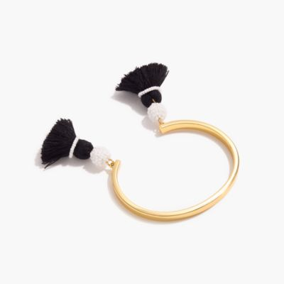 Open tassel bracelet