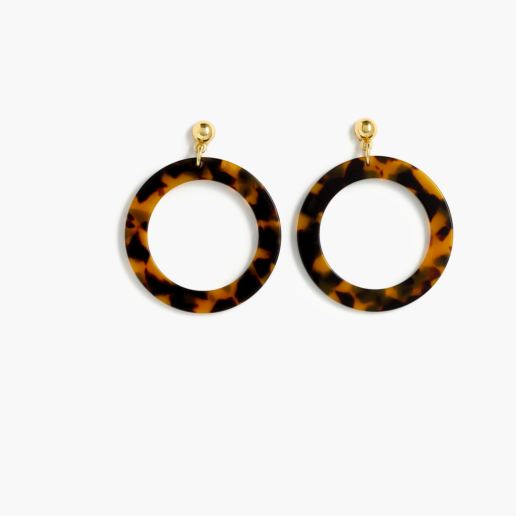 zi dillards p ralph brown hoop tortoise lauren earrings medium