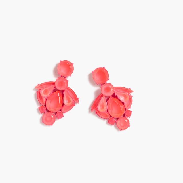 Fan crystal earrings