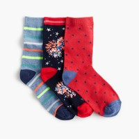 Boys' Fourth of July socks three-pack