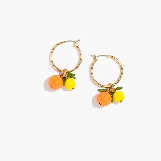 Orange hoop earrings