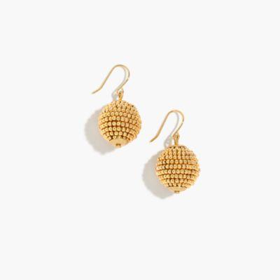 Beaded orb earrings