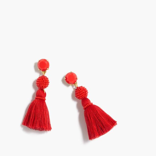 Tassel ball earrings