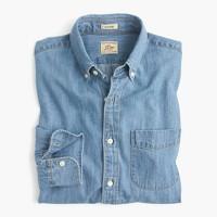Tall lightweight denim shirt in light wash