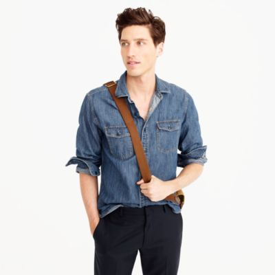 Tall lightweight denim workshirt