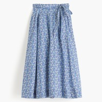 Tie-waist skirt in Liberty® Delilah Cavendish Tana Lawn floral