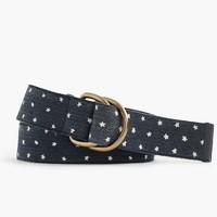Boys' belt in star print