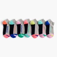 Girls' days of the week socks seven-pack