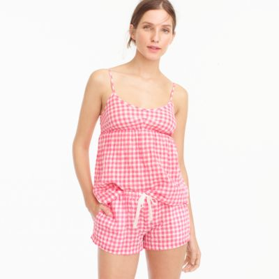 Gingham pajama short