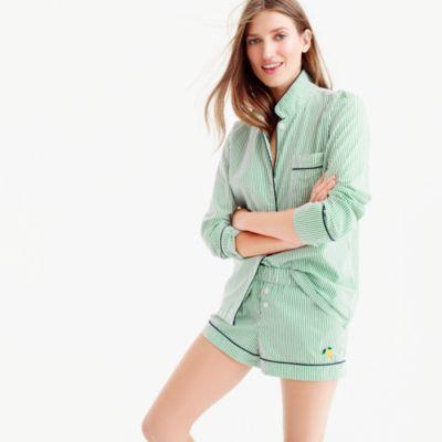 Striped pajama short with lemon