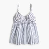 Shirting stripe cami