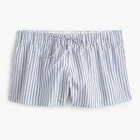 Shirting stripe pajama shorts