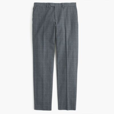 Bowery slim pant in glen plaid cotton