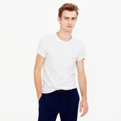 Paint-splattered T-shirt in cotton