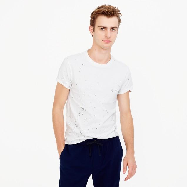 Paint-splattered T-shirt in cotton