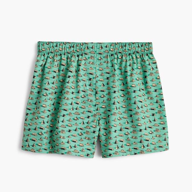 Tent print boxers