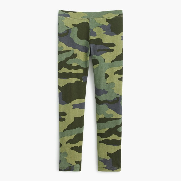 Girls' everyday camo leggings