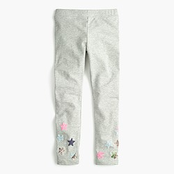 Girls' everyday leggings with sparkly stars