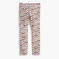 Girls' everyday leggings in butterflies