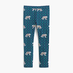 Girls' everyday leggings in tiger