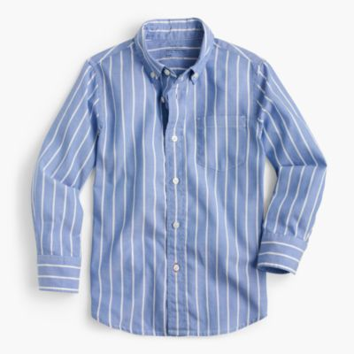 Kids' oxford shirt in classic stripe