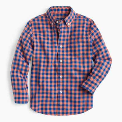 Kids' oxford shirt in oversized gingham