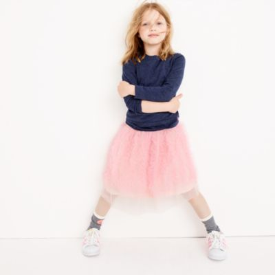 Girls' ruffled tulle skirt