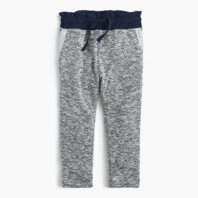 Girls' lightweight jersey sweatpants with contrast waistband