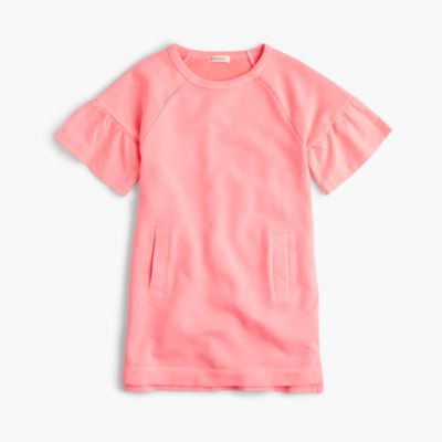 Girls' short-sleeved sweatshirt dress