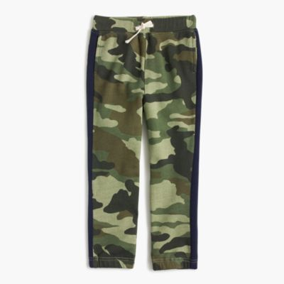 Boys' camo racer-stripe sweatpant in classic fit