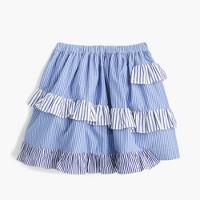 Girls' mixed-stripe skirt