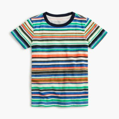 Boys' mixed-stripe T-shirt