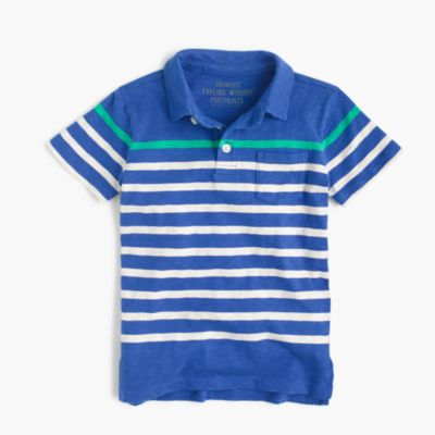 Boys' polo shirt in stripes